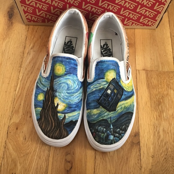 Doctor Who Custom Painted Vans. M 5b4bd5554ab633755d48604d. Other Shoes ... 6f0695bb9